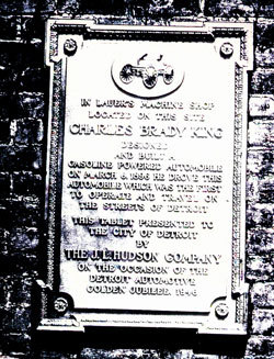 Plaque commemorating King's achievement