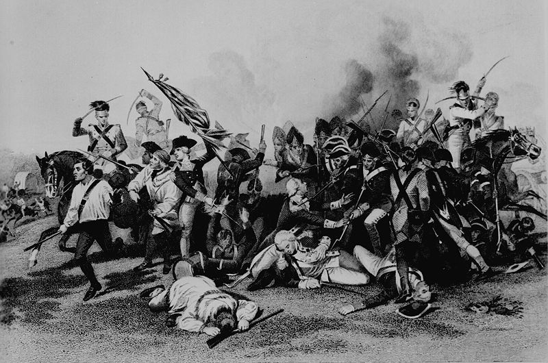 Battle of Camden; Death of de Kalb