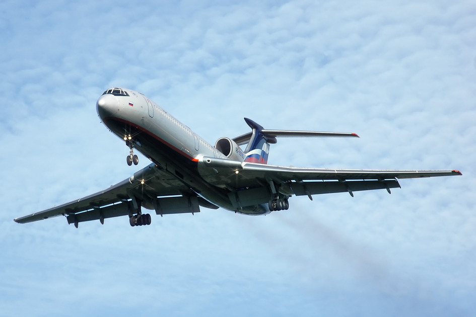 Photo of a Tupolev Tu-154 aircraft, the type of plane involved in the crash of Aeroflot Flight 3352