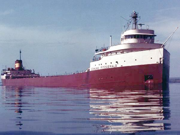 The SS Edmund Fitzgerald in the St. Mary's River in May, 1975.