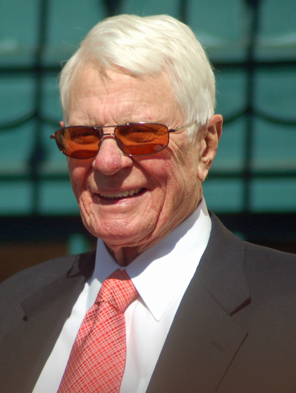 Peter Graves attending a ceremony to receive a star on the Hollywood Walk of Fame.