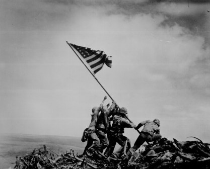 Raising the Flag on Iwo Jima, by Joe Rosenthal / The Associated Press.