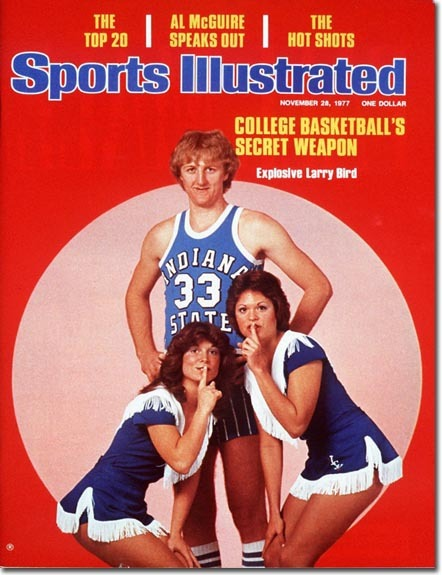 On the Cover: Larry Bird, Basketball, Indiana State Sycamores
