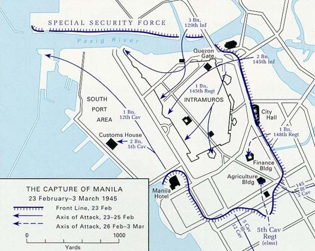 Map of the capture of Manila