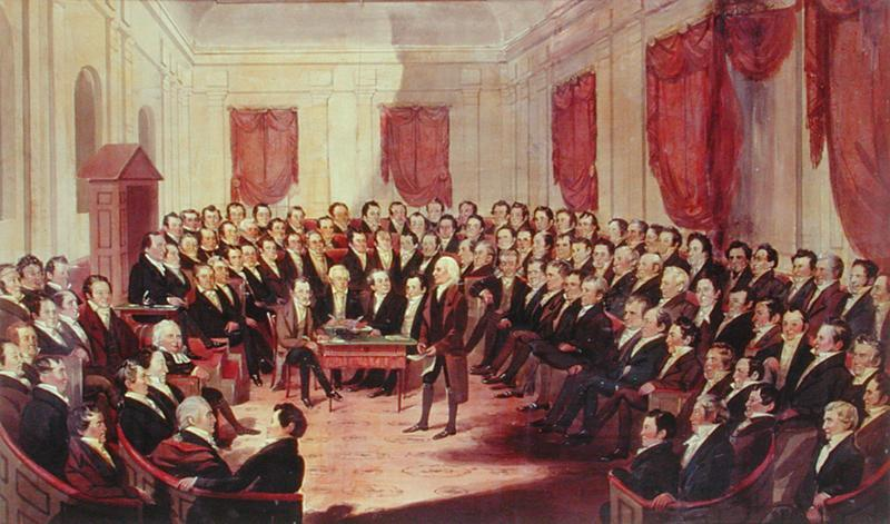 The Virginia Constitutional Convention, 1830, by George Catlin