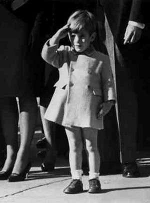 John F. Kennedy, Jr. (John-John) at Father's Funeral