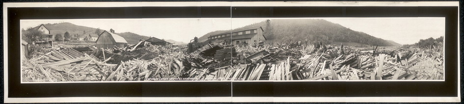 Photograph of damage cause by 1911 dam failure in Austin, Pennsylvania