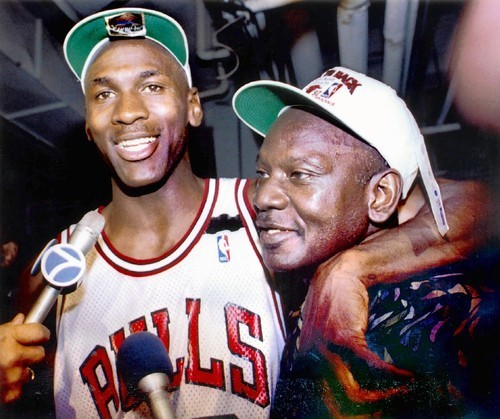 Michael Jordan with his father, James R. Jordan, Sr.