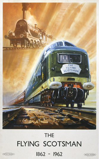 Reproduction of a 1960's British Rail Poster. The Flying Scotsman derailed 26 October 1947 killing 28 people.