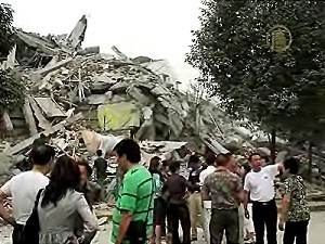 Aftermath of Earthquake that hit Gansu in 2008