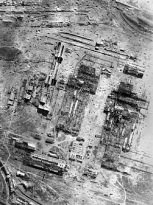 Colombelles Steelworks following the bombing on 18 July.