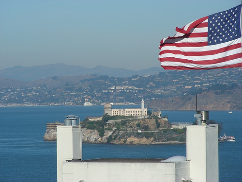 Alcatraz Island from Telegraph Hill