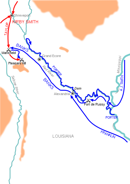 Map of the Red River Campaign