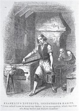 Benjamin Franklin as a young printer