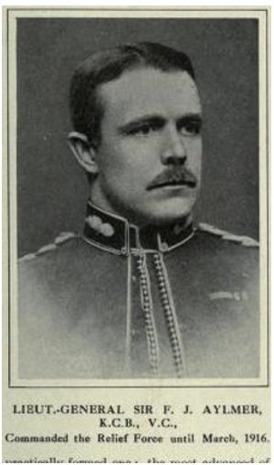 Lieutenant General Sir Fenton John Aylmer, 13th Baronet of Donadea VC KCB, commander of the Tigris Corps in March 1916
