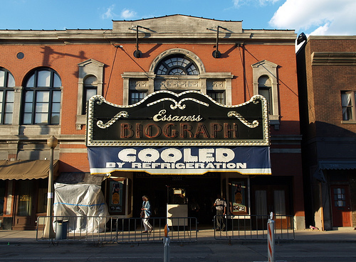 Biograph Theater, during filming of the John Dillinger movie, starring Johnny Depp