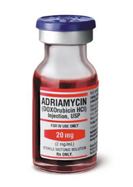 Adriamycin injection bottle