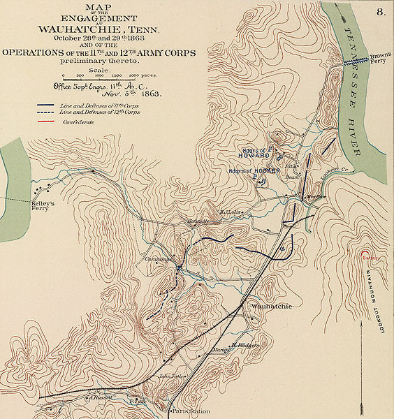 Map of the Battle of Wauhatchie, TN