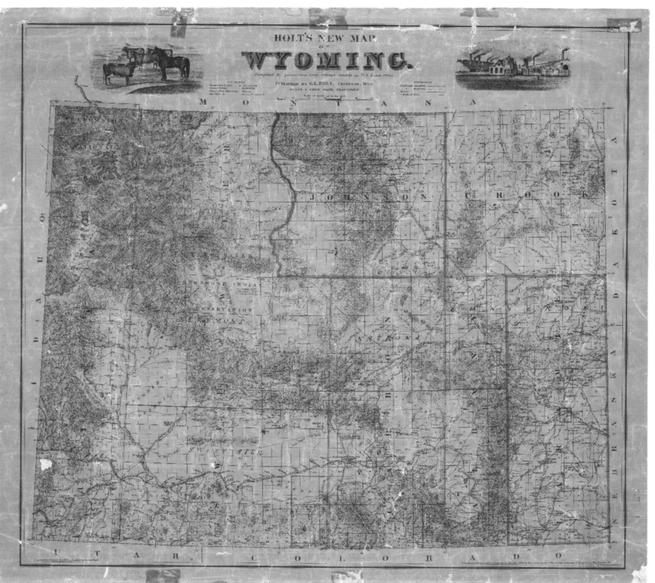 Map of Wyoming, 1890