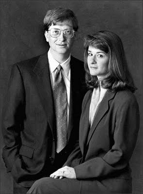 Bill Gates and Melinda French Gates in 1997.