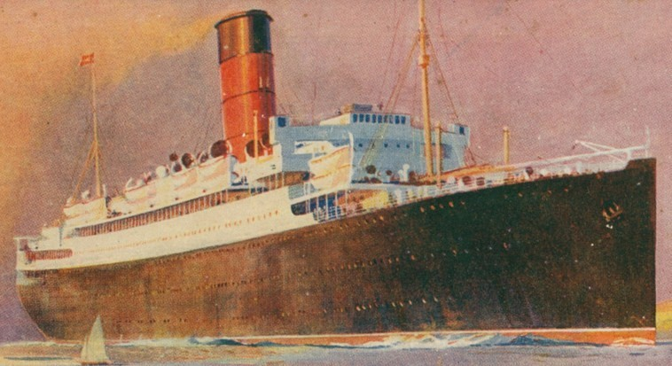 Postcard of RMS Lancastria