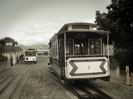 "With a top speed of nine and a half miles per hour the San Francisco cable cars have been ""climbing halfway to the stars"" since 1873. Poet and author Maya Angelou was the first black cable car conductor in San Francisco."