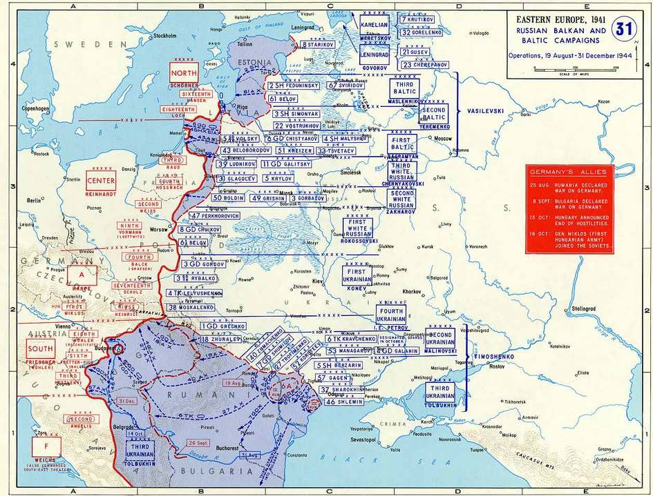Red Army Movements 19 Aug—31 Dec 1944