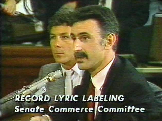Zappa in the Senate in 1985