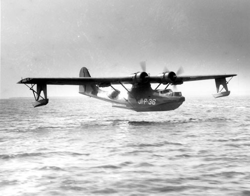 PBY-5 Seaplane like the Miss Macao, the first commercial aircraft to ever be hijacked