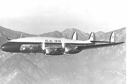 Photo of an El Al Lockheed Constellation plane