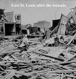 East St. Louis after the Tornado