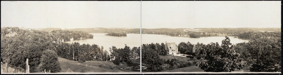 Panorama of Crystal Lake, Wisconsin