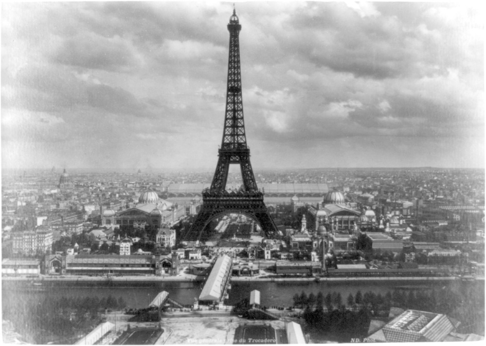 Eiffel tower at Exposition Universelle, Paris, 1889