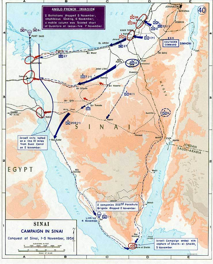 1956 Suez war - conquest of Sinai