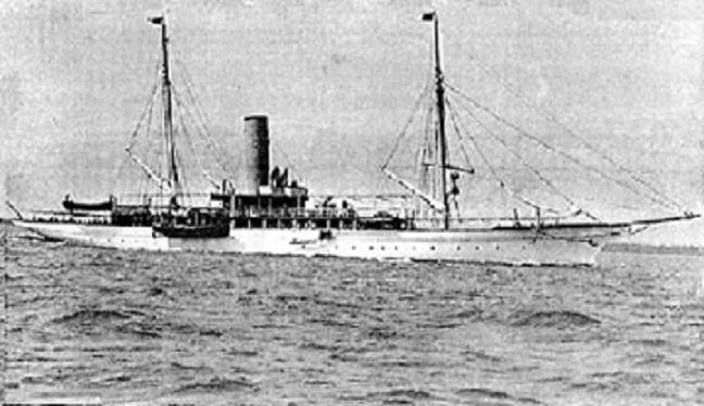 Photo of HMS Iolaire, under the name Amalthaea.
