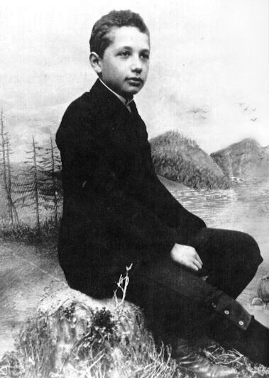 Albert Einstein in 1893.Einstein began to understand deductive reasoning, by 12, he had learned Euclidean geometry. Soon after he began to investigate infinitesimal calculus. At 16, he performed the first of his famous thought