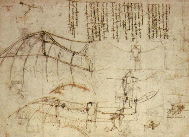 Leonardo Design for a Flying Machine, c
