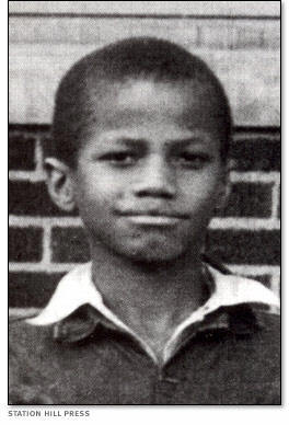 Malcolm X as a child in 1935
