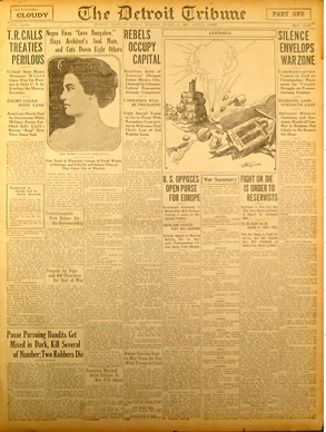 The Detroit Tribune Article from August 16, 1914