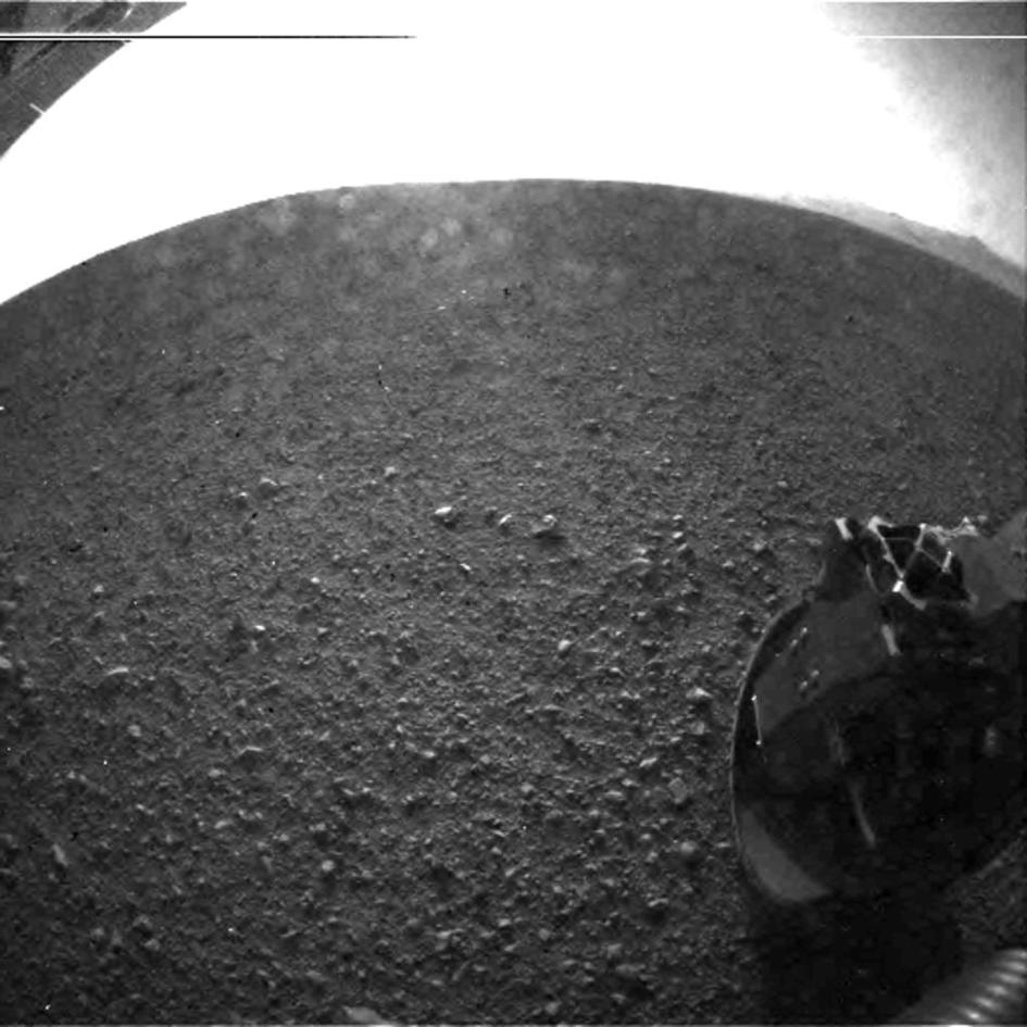 This is one of the first images taken by NASA's Curiosity rover