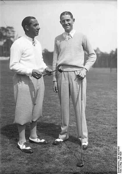 Walter Hagen and Horton Smith. May 1929.