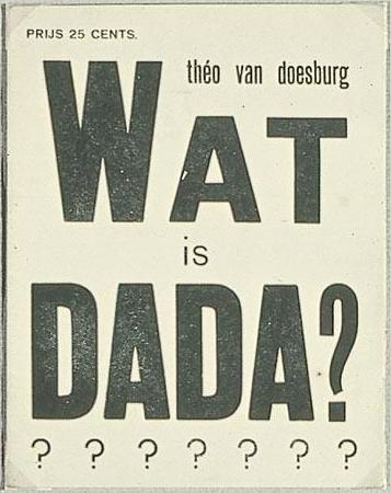 Cover of the Theo van Doesburg brochure, Wat is dada? 1923
