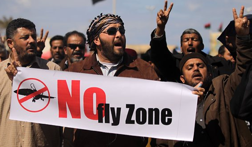 People of Libya were celebrating in the streets as news reached them concerning the approval of instituting a 'No-Fly Zone'