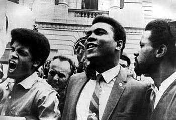 In April, World Heavyweight Boxing Champion Muhammad Ali had refused induction into the U.S. Army based on his religious convictions.