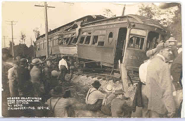 Photo of the Kingsland, Indiana interurban train accident