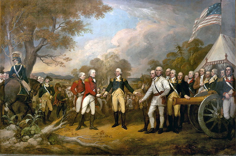 Surrender of General Burgoyne by John Trumbull